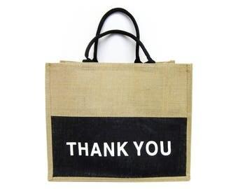 thank you / tote bag / shopper bag / market bag /  burlap / hand bag / nature bag / gift bags / thank you gift