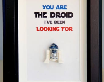 Star Wars, Lego, Lego minifigures, R2D2 for daddy husband birthday anniversary gift inspired by LEGO