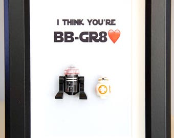 Star Wars, Lego, Lego minifigures, BB8 for daddy husband birthday anniversary gift inspired by LEGO