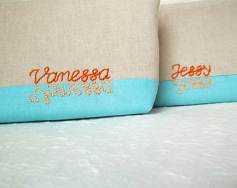 Personalized cosmetic bag, makeup bag, cosmetic bag, Pencil pouch, personalized, Monogrammed, gift