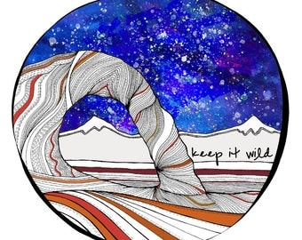 Keep it Wild Sticker (color)