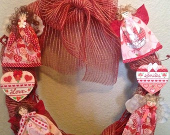 Adorable Love Angels Wreath