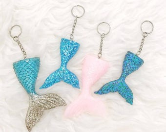 Glitter Mermaid Keychain - Mermaid Glitter - Key chain - Mermaid tail - Mermaids - key bling - gift for her - sweet sixteen - christmas gift