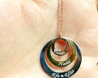gold silver ring necklace