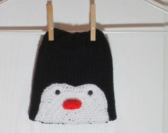 """Baby Beanie Hat Featuring """"Poppy"""" the Penguin"""
