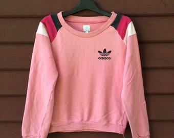 Vintage Adidas Trefoil Women Sweatshirt Jumper Pullover Rare On Sale
