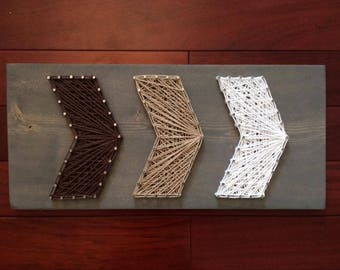 Ombre Chevron Arrows String Art, Made to Order