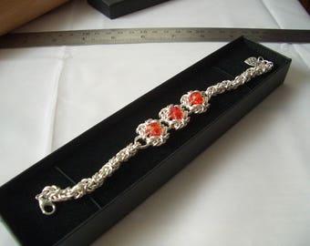 Three section Red Byzantine Romanov Bracelet