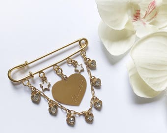 Personalized Gift for Baby, Stroller Pin, Engraved Baby Name, Custom Made, One of a Kind, Baby Brooch, New Baby Gift, Stroller Charm, Unique