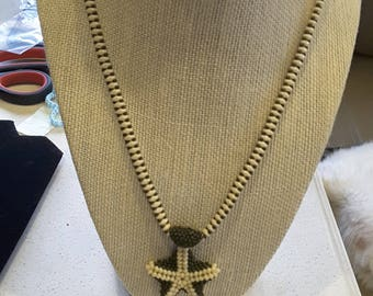 Unique beaded chain and starfish