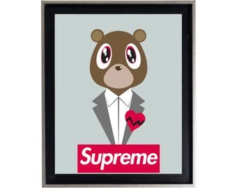 Supreme x Kanye West '808's & Heartbreak' Poster or Art Print