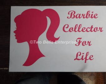 Barbie Collector Auto WIndow Decal V2