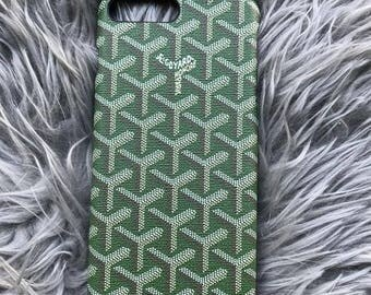 Custom IPhone 7 plus iPhone 8 plus iPhone 6 iPhone 8 iPhone 7 Green Goyard Case