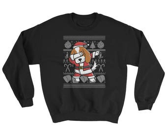 Funny Dabbing Cavalier King Charles Spaniel Ugly Christmas Sweater Cute Dog Gift
