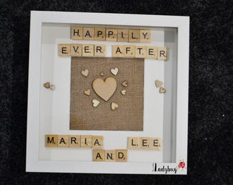 Personalised Happily Ever After Box Frame, Love Frame
