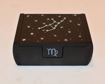 Virgo zodiac constellation box
