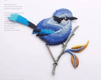 Iron on patch,sew on patch,pathes for jackets,patches for backpacks,embroidered bird patches,animal patch,christmas gifts