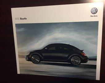 2012 Beetle Bug Volkswagen dealership Brochure