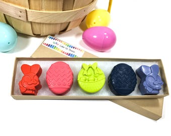 Easter crayons - kids Easter basket gift - bunny crayons - allergy free Easter gift - Easter gift for kids - Easter basket filler