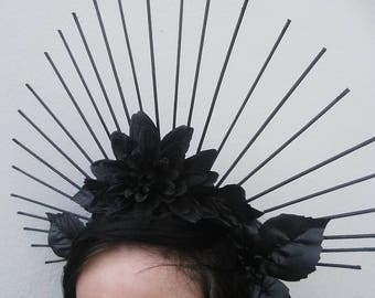 Belladonna Halo Headdresses ||Gothic Halo Spiked Headdresses