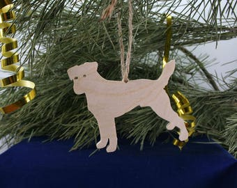 Parson Russell Terrier Dog  Wooden Christmas Tree decoration