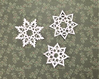 Handmade Paper Snowflakes (5-pack, small)