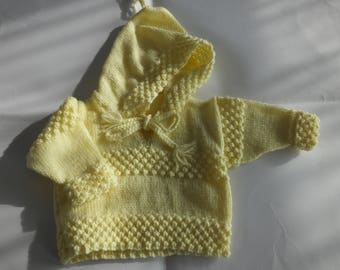 Baby Hooded Jumper  0-3 Months