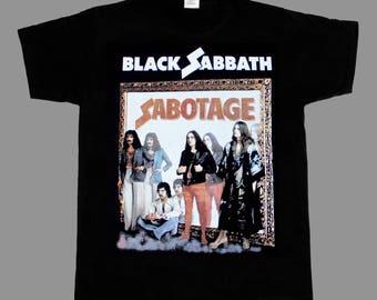 black sabbath sabotage'75 ozzy osbourne deep purple s-xxl new black t-shirt