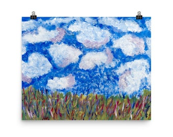 Blue Sky - Beautiful Archival Cotton Rag Fine Art Giclée Print Supporting the Nonprofit Fresh Artists