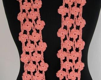 Handmade crochet scarf, crochetered scarf, crocheted scarf - accessory