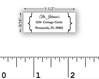 3 line address stamp invitation stamp