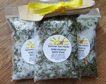 Sore Muscle Bath Soak-Set of 3