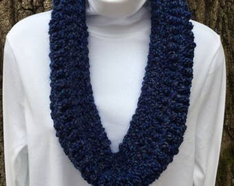 Blue Cowl Infinity Scarf