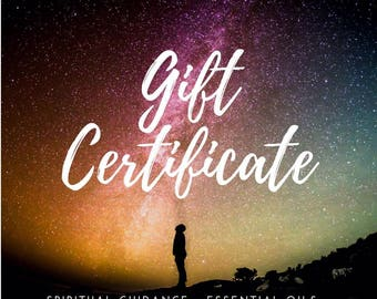 Gift Certificate | Guardian Angel Cards | Angel Card Reading | Psychc Reading | New Age | Calicorn Intuitive