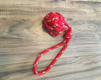 "Red Nylon ""Monkey Fist"" - Medium"
