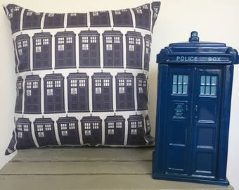 Doctor Who Cushion Covers-Tardis Cushion Covers