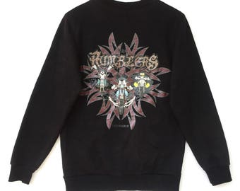 Mickey mouse Sweatshirt Black colour Big Logo Embroidery Sweat Medium Size Jumper Pullover Jacket Sweater Shirt Vintage 90's