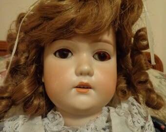 "ANTIQUE CM BERGMANN Simon Halbig 24"" Bisque Head Doll"