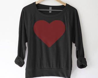 Heart Sweater   Heart Sweatshirt   Cute Valentine Shirt   Girlfriend Gift    Valentines Day Shirt