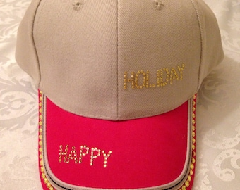 Decorated holiday cap