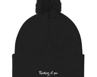 Thinking Of You Pom Pom Knit Cap