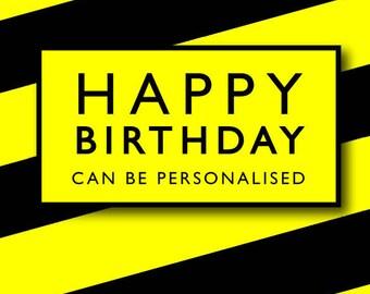 Manchester's Hacienda music scene inspired Birthday greeting card