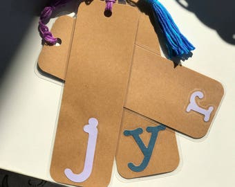 Laminated Personalized Initial Bookmark