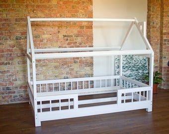 Kindermöbel holz natur  Kinderbett | Etsy