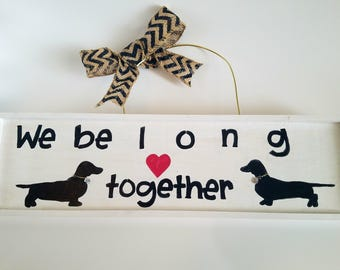 Dachshund Door Hanger Wedding Unique Wedding Gift For Dog Lover Dachshund  Decor Pretty Dog Lover Gift