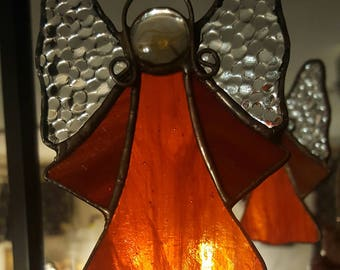Gift, suncatcher, angel, Tiffany, handmade, love, Christmas, Xmas, decoration, good luck, blessing, archangel
