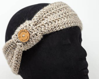 Knotted headband, taupe