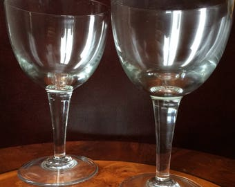 set of 2 trappist glasses - no inscription