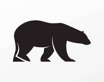 Decal Sticker Polar Bear Tablet Laptop Durable Sports car 04478