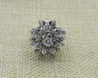 14K Vintage Diamond Cluster Ring